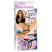 Vibrating Lover's Thong With Stroker Beads