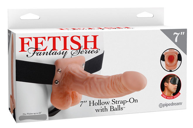 "7"" Hollow Strap-On With Balls"