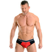 Soho Jock Brief Rojo Negro