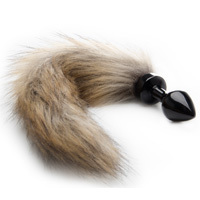 Fox Tail Buttplug Negro
