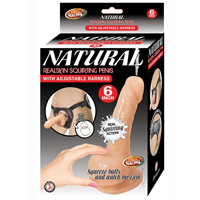 Natural Realskin Squirting 6 Inch