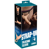 Strap On Silicone Sleeve Large