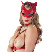 Head Mask Red Cat